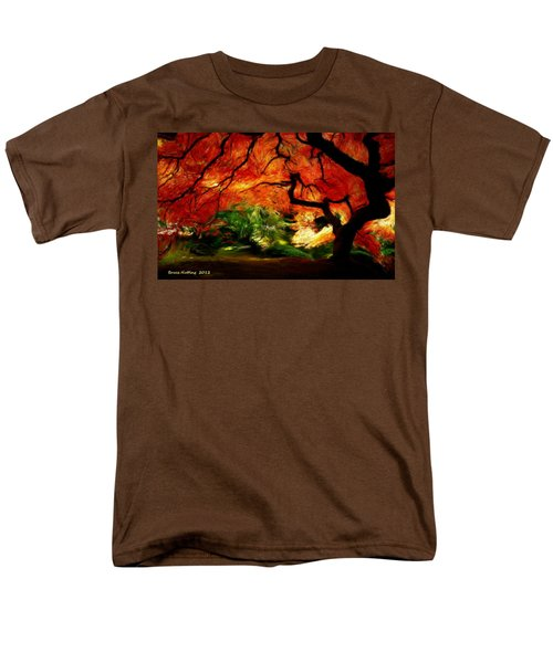 Men's T-Shirt  (Regular Fit) featuring the painting Autumn Tree by Bruce Nutting
