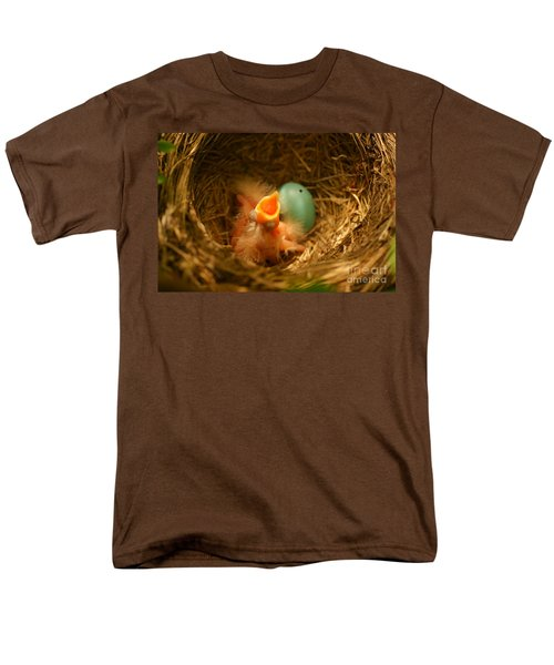 Baby Robins1 Men's T-Shirt  (Regular Fit) by Loni Collins