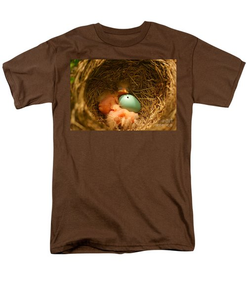 Baby Robins2 Men's T-Shirt  (Regular Fit) by Loni Collins