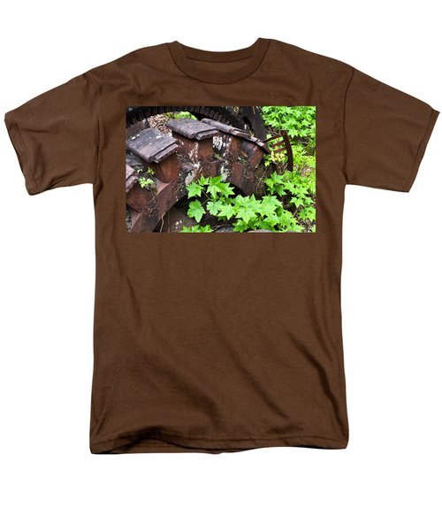 Men's T-Shirt  (Regular Fit) featuring the photograph Back To The Forest by Cathy Mahnke