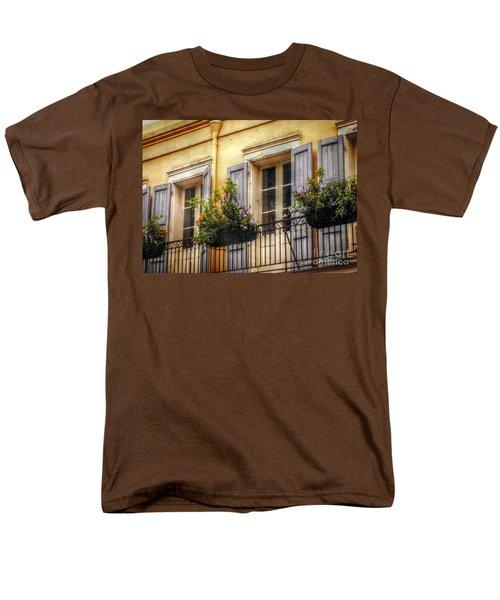 French Quarter Balcony Men's T-Shirt  (Regular Fit) by Valerie Reeves