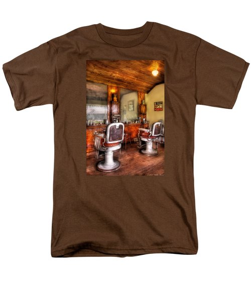 Barber - The Barber Shop II Men's T-Shirt  (Regular Fit) by Mike Savad