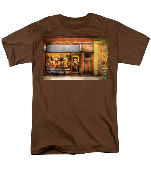 Barber - Towne Barber Shop Men's T-Shirt  (Regular Fit) by Mike Savad