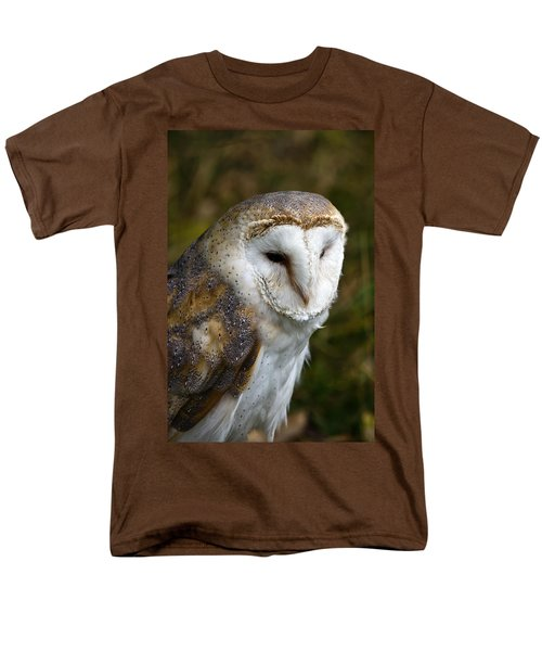 Barn Owl Men's T-Shirt  (Regular Fit) by Scott Carruthers