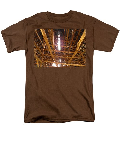 Men's T-Shirt  (Regular Fit) featuring the photograph Barn With A Skylight by Nick Kirby