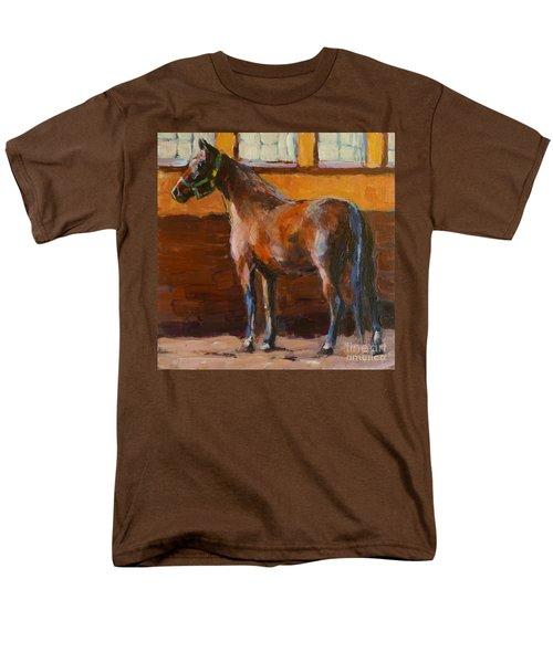 Men's T-Shirt  (Regular Fit) featuring the painting Barnlight by Molly Poole