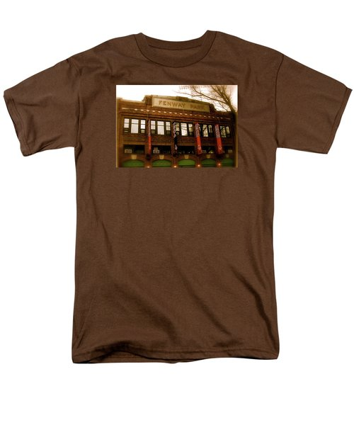 Men's T-Shirt  (Regular Fit) featuring the photograph Baseballs Classic  V Bostons Fenway Park by Iconic Images Art Gallery David Pucciarelli