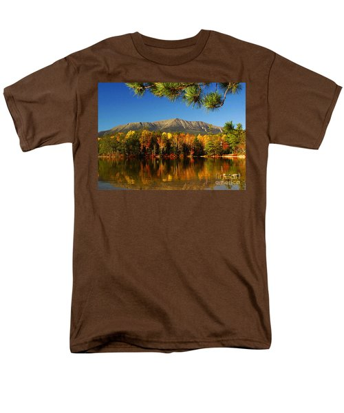 Men's T-Shirt  (Regular Fit) featuring the photograph Baxter Fall Reflections  by Alana Ranney