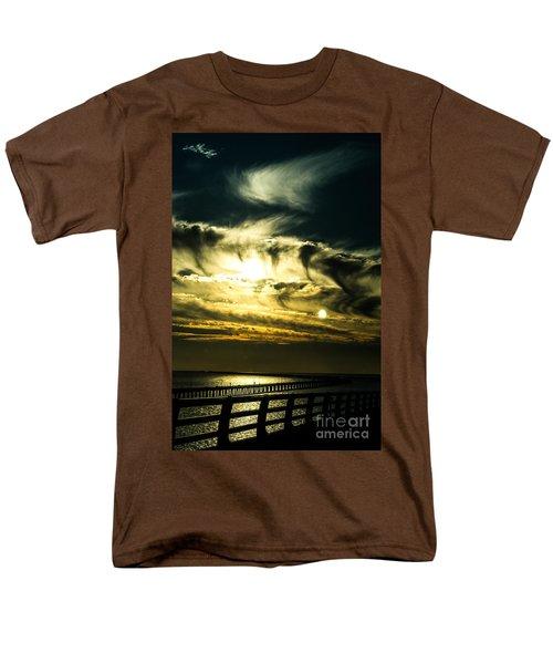 Men's T-Shirt  (Regular Fit) featuring the photograph Bay Bridge Sunset by Angela DeFrias