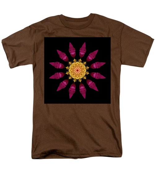 Beach Rose Iv Flower Mandala Men's T-Shirt  (Regular Fit)
