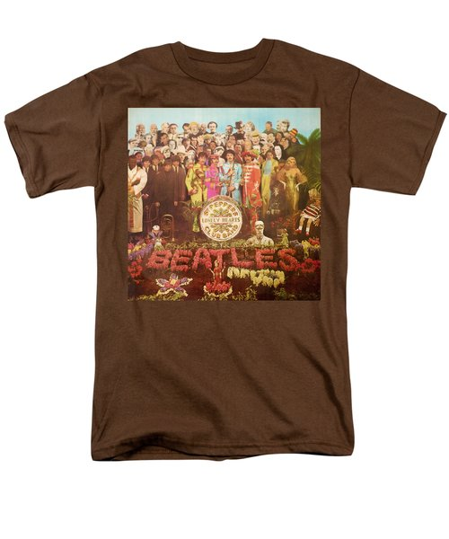 Beatles Lonely Hearts Club Band Men's T-Shirt  (Regular Fit) by Gina Dsgn