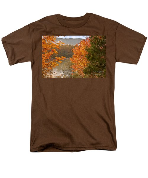 Men's T-Shirt  (Regular Fit) featuring the photograph Beautiful Autumn Gold Art Prints by Valerie Garner