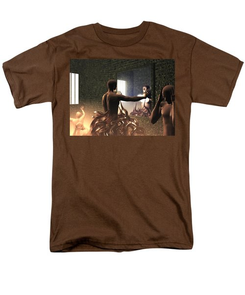 Men's T-Shirt  (Regular Fit) featuring the digital art Becoming Disturbed by John Alexander
