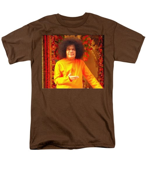 Bhagavan Sri Sathya Sai Baba Men's T-Shirt  (Regular Fit) by Carlos Avila