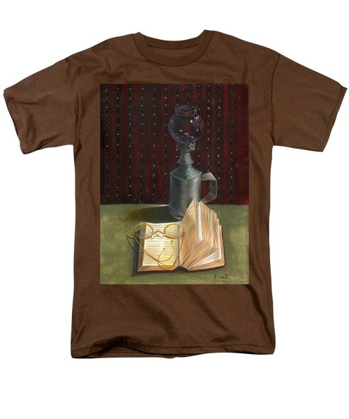 Men's T-Shirt  (Regular Fit) featuring the painting Bifocal Read by Doreta Y Boyd