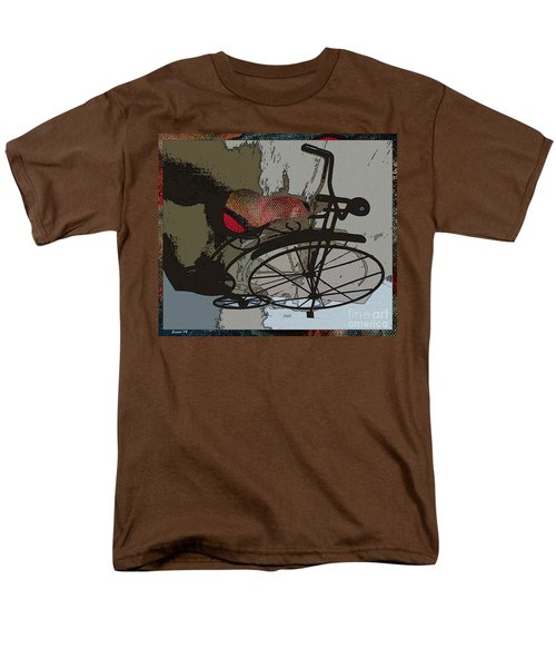 Men's T-Shirt  (Regular Fit) featuring the painting Bike Seat View by Ecinja