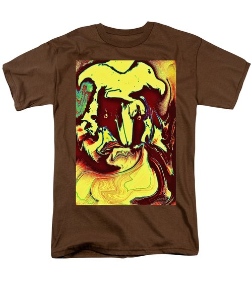 Bird On Head Men's T-Shirt  (Regular Fit) by Jason Lees