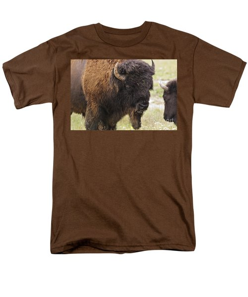 Men's T-Shirt  (Regular Fit) featuring the photograph Bison From Yellowstone by Belinda Greb