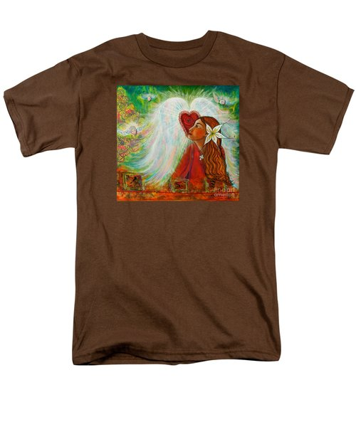 Men's T-Shirt  (Regular Fit) featuring the painting Blessed Visit  by Deborha Kerr
