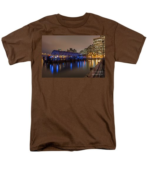 Blue And Gold Night Men's T-Shirt  (Regular Fit) by Kate Brown