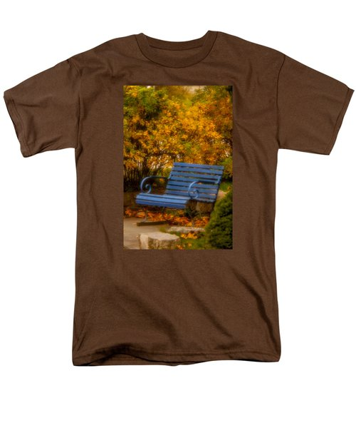 Blue Bench - Autumn - Deer Isle - Maine Men's T-Shirt  (Regular Fit)