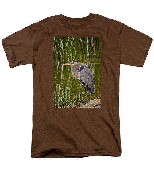 Blue Heron Men's T-Shirt  (Regular Fit) by Duncan Selby