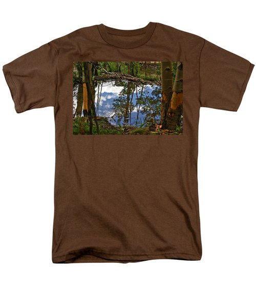 Men's T-Shirt  (Regular Fit) featuring the photograph Blue Sky Reflecting by Jeremy Rhoades