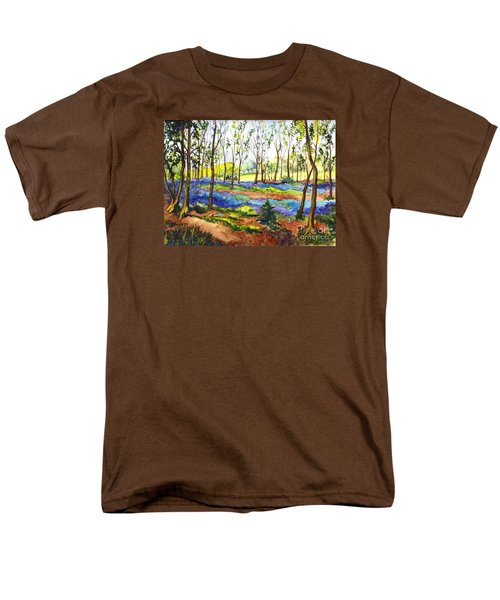 Men's T-Shirt  (Regular Fit) featuring the painting Bluebell Woods by Carol Wisniewski