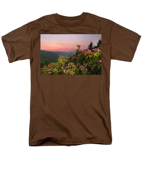 Blueridge Parkway Mountain Laurel Men's T-Shirt  (Regular Fit) by Randall Branham