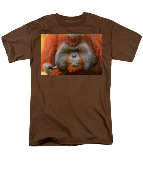 Bornean Orangutan Men's T-Shirt  (Regular Fit) by Lourry Legarde