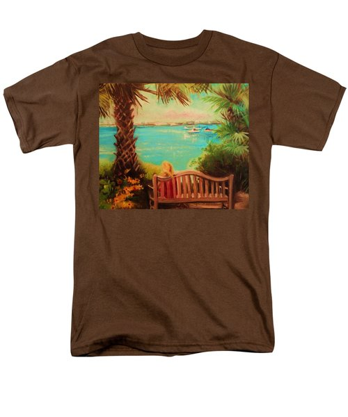 Men's T-Shirt  (Regular Fit) featuring the painting Botanical View by Yolanda Rodriguez