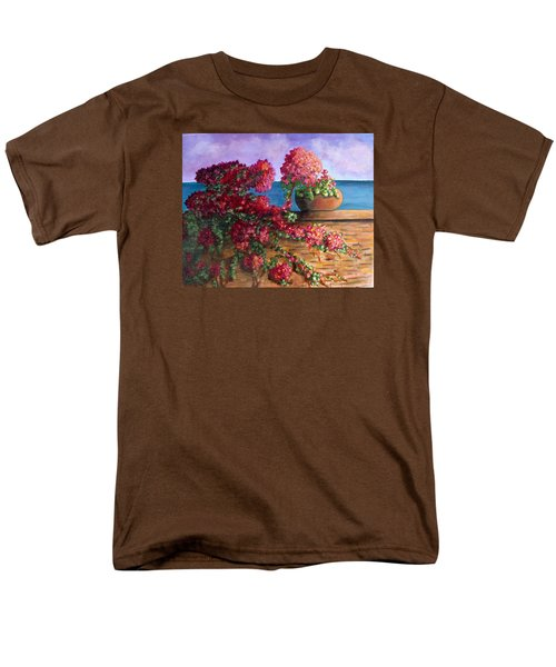 Bountiful Bougainvillea Men's T-Shirt  (Regular Fit) by Laurie Morgan