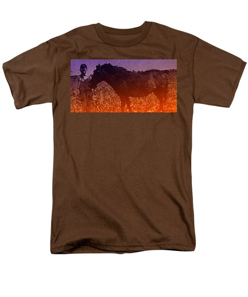 Men's T-Shirt  (Regular Fit) featuring the digital art Boy With Horse by Cathy Anderson