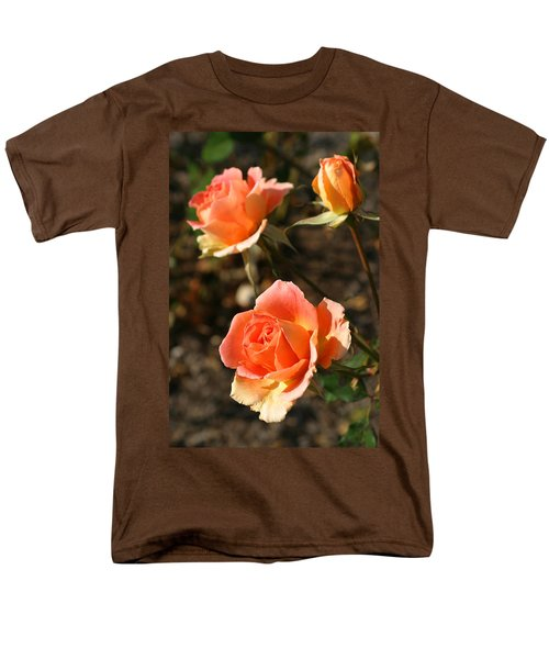 Brass Band Roses In Autumn Men's T-Shirt  (Regular Fit) by Living Color Photography Lorraine Lynch