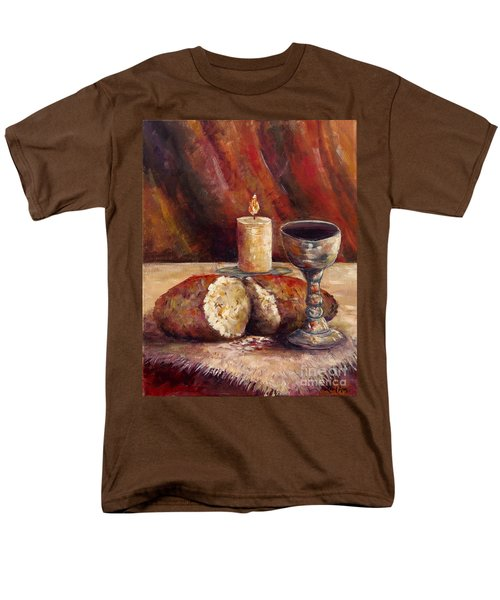 Bread And Wine Men's T-Shirt  (Regular Fit) by Lou Ann Bagnall