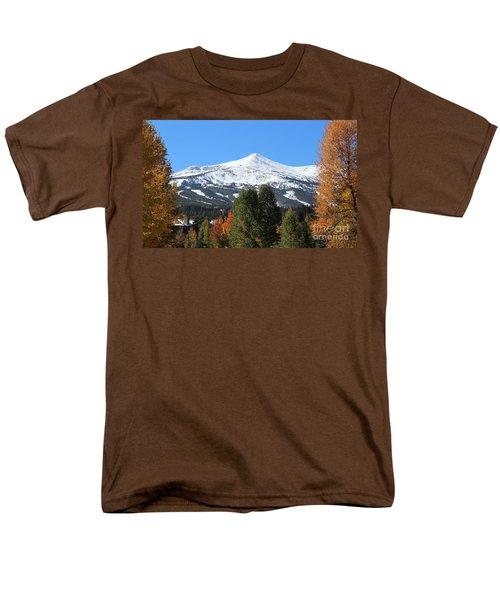 Breckenridge Colorado Men's T-Shirt  (Regular Fit) by Fiona Kennard