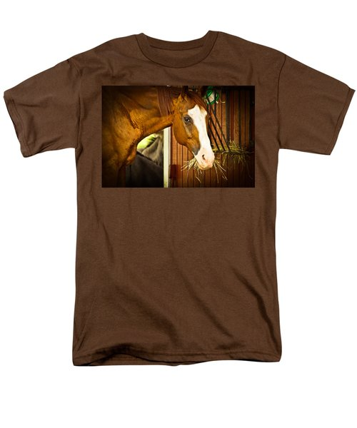 Brown Horse Men's T-Shirt  (Regular Fit) by Joann Copeland-Paul