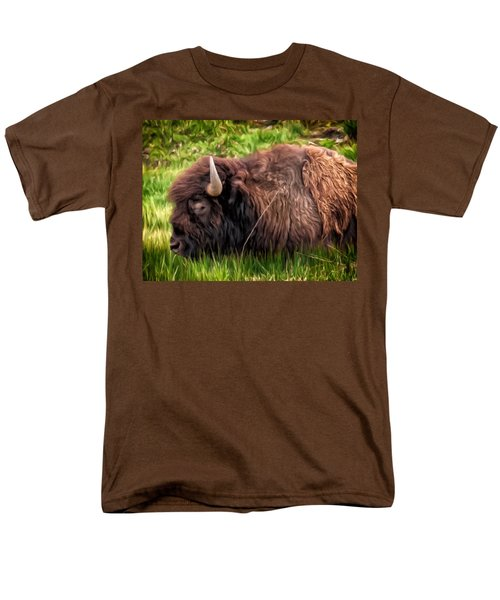 Buffalo Cat Nap Men's T-Shirt  (Regular Fit) by Michael Pickett