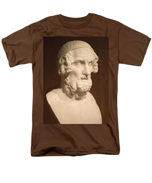 Men's T-Shirt  (Regular Fit) featuring the photograph Bust Of Homer by Mark Greenberg