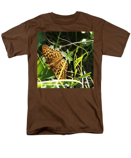 Men's T-Shirt  (Regular Fit) featuring the photograph Butterfly At Signal Mountain by Belinda Greb