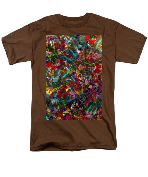 Men's T-Shirt  (Regular Fit) featuring the photograph Butterfly Collage Red by Robert Meanor