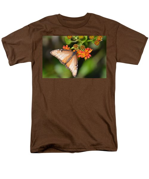 Men's T-Shirt  (Regular Fit) featuring the photograph Butterfly On Mexican Flame by Debra Martz