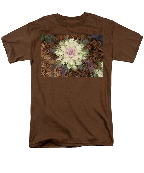 Cabbage Rose Men's T-Shirt  (Regular Fit) by Victoria Harrington