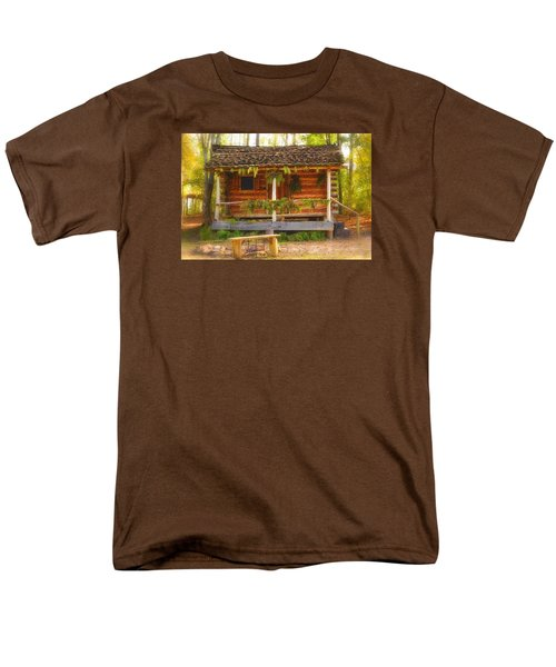 Men's T-Shirt  (Regular Fit) featuring the photograph Cabin Christmas by Nadalyn Larsen