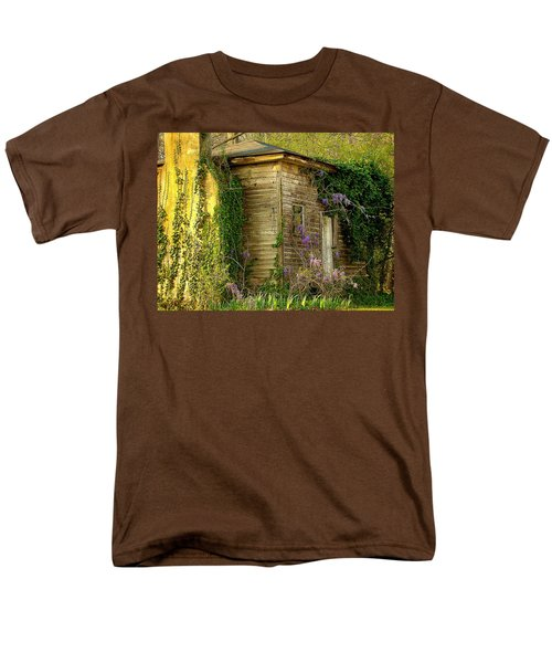 Cabin In The Back Men's T-Shirt  (Regular Fit) by Rodney Lee Williams