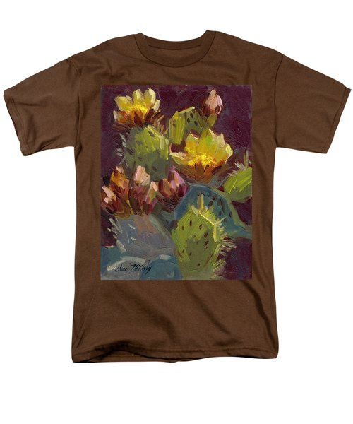 Cactus In Bloom 1 Men's T-Shirt  (Regular Fit) by Diane McClary