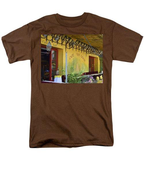 Cafe Van Gogh Men's T-Shirt  (Regular Fit) by Allen Sheffield
