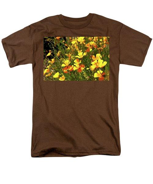 California Poppies Men's T-Shirt  (Regular Fit) by Ed  Riche