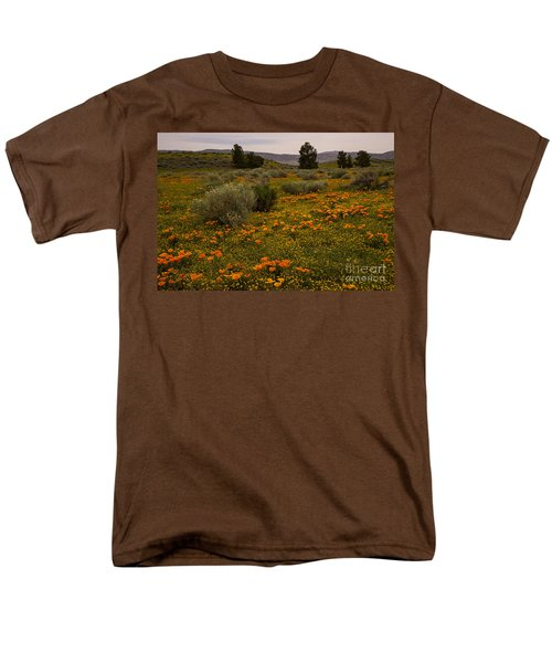 California Poppies In The Antelope Valley Men's T-Shirt  (Regular Fit) by Nina Prommer