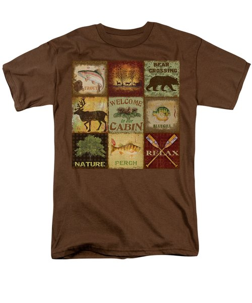 Call Of The Wilderness Men's T-Shirt  (Regular Fit) by Jean Plout